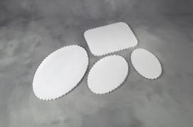 Fadpapir præget 24x36cm oval 500stk/pak