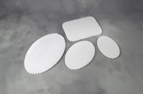 Fadpapir præget 33x50cm oval 500stk/pak