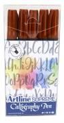 Artline Supreme Calligraphy Pen 5/set sepia