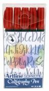 Artline Supreme Calligraphy Pen 5/set red