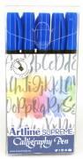 Artline Supreme Calligraphy Pen 5/set blue