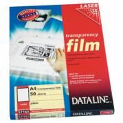 A4 Transparent t/laser sort/hvid 100my (100)
