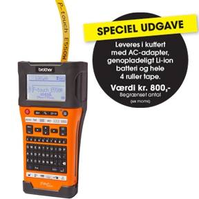 PT-E550WSP label machine bundle 4 tapes