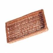 Brødkurv 45x25x5 cm Rektangulær Håndlavet flet Brun