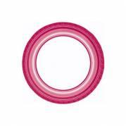 Paptallerken BBQ 22 cm Hot pink