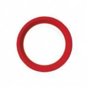 Paptallerken 18 cm Rød/Guld
