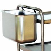 Affaldsbeholder 40x20x25 cm Rustfri stål til Rullevogn
