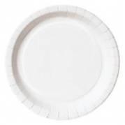 Paptallerken 22 cm Basic Dinner hvid