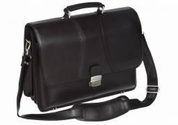 Dokumenttaske læder sort 40x31x15cm