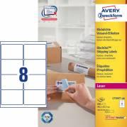 Laseretiket Avery 99,1x67,7mm 8/ark 100ark/pak L7165