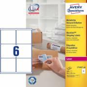 Laseretiket Avery 99,1x93,1mm 6/ark 100ark/pak L7166
