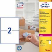 Laseretiket Avery 199,6x143,5mm 2/ark 100ark/pak L7168