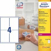 Laseretiket Avery 99,1x139mm 4/ark 100ark/pak L7169