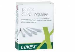 Kridt Linex hvid firkantet 12stk/pak