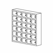 Opbevaringsboks til mobil/ værdier 30rum sort grå/hvid