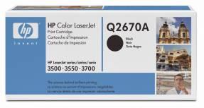 Lasertoner HP Q2670A sort Color LaserJet 3500/3700