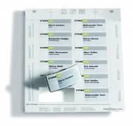 Indstik til kongresmærker på A4-ark hvid 75x40mm 20ark/pak 75x40mm 240stk