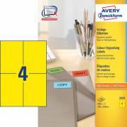 Etiket Avery gul 105x148mm 400stk/pk 3459