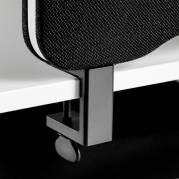 Bordbeslag topmontering sort t/skærmvæg Edge sæt