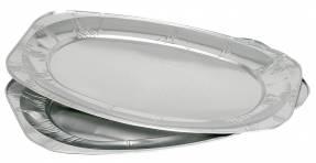 Serveringsfad oval aluminium 54,7x36cm 100stk/pak