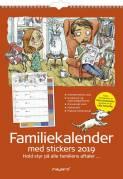 Familiekalender 6 kolonner m/stickers og illu. 29,7x42cm 19 0662 50