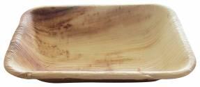 Tallerken dyb palmeblad Hampi 16x13x3cm komposterbar 25stk/pak
