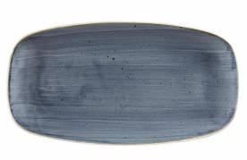 Serveringsfad stonecast 12st 29,8x15,3cm porcelæn blåbær