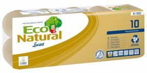 Toiletpapir Lucart T3 Natural 2-lags 9,2cmx17,6m Ø10,2cm100% genbrugspapir 120rul/kar