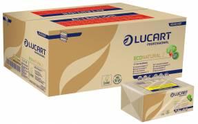 Håndklædeark Lucart T3 Natural 2-lags interfold 23,5x23cm 9cm 100% genbrugspapir