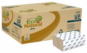 Håndklædeark Lucart T3 Natural 2-lags multifold 21x20,8cm 10,5cm 100% genbrugspapir