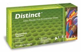 Latexhandske Distinct XL hvid pudderfri 100stk/pak