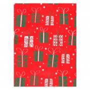 Gavepapir jul gaver rød/grøn 100cmx30m 70g