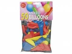 Balloner ass. 50stk/pak runde og lange