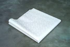Stikdug papir m/præg hvid 80x80cm 250stk/pak