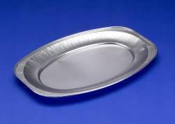 Cateringfad oval lille 35x25x2,1cm glat 10stk/pak