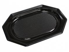Cateringfad A-PET sort lille 35x25x2cm oval 10x10stk/kar