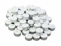 Fyrfadslys Ø3,5 cm hvid 6 timer 30stk/pak