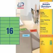 Etiket Avery grøn 105x37mm 1600stk/pak