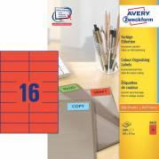 Etiket Avery rød 105x37mm 1600stk/pak