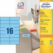 Etiket Avery blå 105x37mm 1600stk/pak