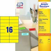 Etiket Avery gul 105x37mm 1600stk/pak