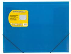 Plastmappe bnt Docusmart blå m/3 klapper