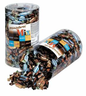 Chokolade Mixed miniatures 3kg/pak 296stk