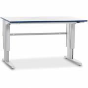 Arbejdsbord 400 1500x800 mm med grå vinyl Arbejdsbordplade