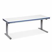 Arbejdsbord ErgoMini 1500x800 mm med grå vinyl bordplade
