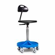Montørstol All-round 3114 blå med rygstøtte